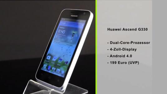 Das Huawei Ascend G330 richtet sich an ambitionierte Smartphone-Neulinge.