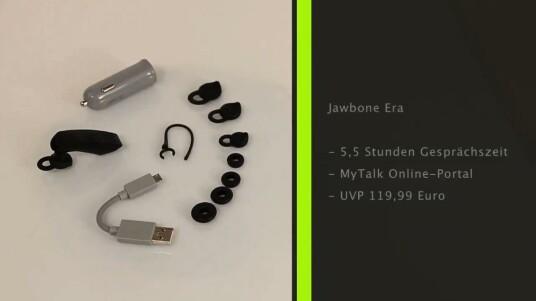 Das Jawbone Era ist ein rundum überzeugendes Bluetooth-Headset. Das Freisprechgerät besitzt nicht nur ausgezeichnete Sprachqualität und – durch die Noise Assassin 3.0-Technologie – ein optimales Geräuschfilterungssystem, sondern lässt sich auch nach Belieben durch Apps erweitern.