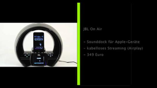 Das Airplay-fähige Sounddock dient zum schnurlosen Audioempfang von i-Geräten und Desktop-Rechnern. Der Klang ist ausgewogen, im Test zeigte das Gerät aber einige Mängel.