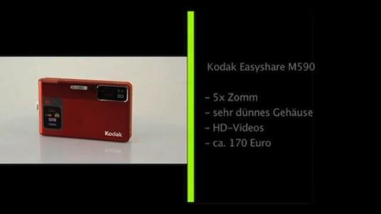 Kodak hat es geschafft für die Easyshare M590 einen Superlativ zu finden: Es handelt sich nach Angaben des Herstellers um die dünnste Digitalkamera der Welt - mit einem fünffachem Zoom.