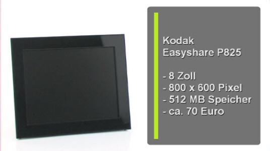 Minimalismus Pur: Der digitale Bilderrahmen von Kodak verzichtet auf aufwendige Menüs und Einstelltungen und überzeugt durch eine sehr gute Bildqualität.