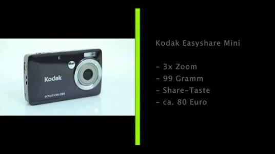 Vor 50 Jahren wäre die Kodak Easyshare Mini die erste Wahl von James Bond gewesen, heute handelt es sich bei ihr nur um eine sehr kleine Kompaktkamera, deren Größe nicht nur Vorteile bietet.