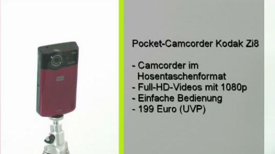 Der Pocket Camcorder Zi 8 nimmt Videos in Full HD Auflösung auf. Er überzeugt druch eine komfortable Bedienung und einen günstigen Preis von 199 Euro.