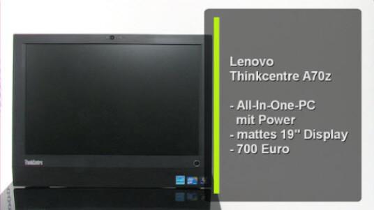 Das Lenovo Thinkcentre A70z ist ein platzsparender Desktop-PC Ersatz und erweist sich als wahres Arbeitstier. Der All-In-One PC ist mit einem Intel Core 2 Duo E7500 und vier Gigabyte RAM ausgestattet.
