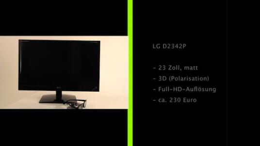 Trotz aller Begeisterung für 3D sind 3D-Bildschirme immer noch ein Nischenprodukt. LG versucht jetzt mit Polarisationstechnik und dem D2342P mehr Menschen zum Kauf zu bewegen.