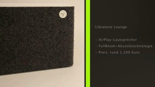 Die Libratone Lounge-Lautsprecher sind extra fürs Wohnzimmer entwickelt worden und empfangen Audiostreams via Apples Kabellos-Technologie AirPlay. Für die in Handarbeit gefertigten Boxen werden rund 1.300 Euro fällig.