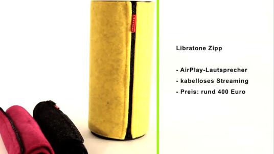 Der dänische Hersteller Libratone hat mit dem Zipp seinen ersten mobilen Lautsprecher mit AirPlay-Unterstützung vorgestellt. Der Sound der Box beeindruckte im Test. Das hat aber auch seinen Preis: Die Box ist für rund 400 Euro erhältlich.