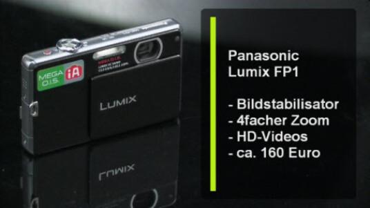 Die Lumix FP1 eine schlanke Kompaktkamera, deren Objektiv mit vierfachem Zoom vollständig im Gehäuse steckt. Die Kamera überzeugt durch einen guten Bildstabilisator und den gut funktionierenden Weißabgleich.