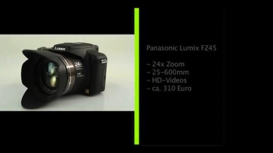 Große Brennweiten sind das wichtigste Erkennungsmerkmal von Bridgekameras. Die Lumix FZ45 von Panasonic nennt ein Objektiv mit einem 24-fachen Zoom und einer Brennweite von 25 bis 600 Millimetern ihr Eigen.