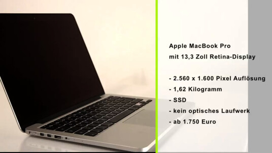 Apple MacBook Pro mit 13,3 Zoll Retina-Display