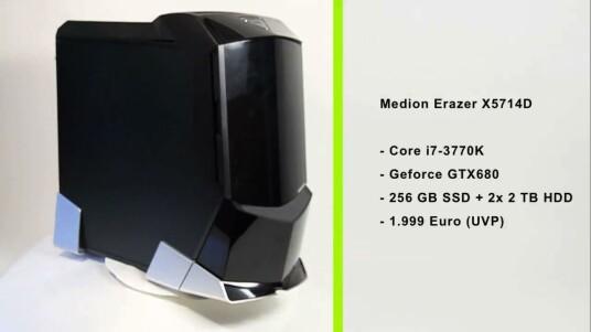 Dieser Rechner strotz vor Rechenkraft. Medion verbaut im Erazer X5714D aktuelle Top-Hardware.