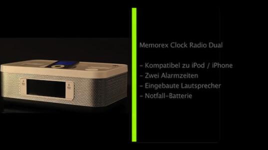 Memorex Dual Alarm Clock Radio