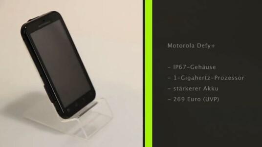 Das Motorola Defy+ ist mehr eine moderate Überholung, denn eine echte Weiterentwicklung des erfolgreichen Modells Defy.