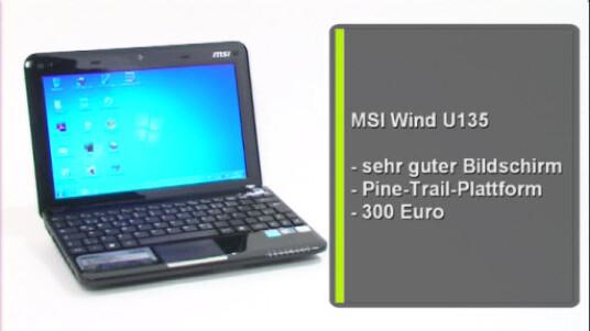 Gutes Netbook mit Pine-Trail-Technologie und ausgezeichnetem Bildschirm. Einzig die geringe Akkulaufzeit fällt negativ ins Gewicht.