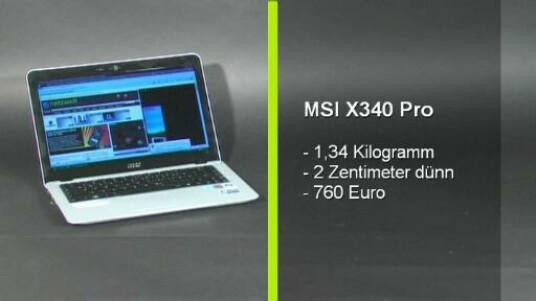 Der Hersteller MSI setzt auf leichte Subnotebooks mit besonders sparsamen Prozessoren und schickt die drei neuen Modelle seiner X-Slim-Serie ins Rennen. Das Flaggschiff der Reihe ist das MSI X340 Pro, das netzwelt auf Herz und Nieren geprüft hat.