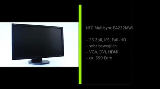 IPS-Panel, ergonomisch extrem anpassungsfähig und LED-Hintergrundbeleuchtung: Der 23 Zoll große Multisync EA232WMi von NEC befindet sich technisch auf der Höhe der Zeit.