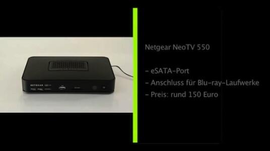 Der Netgear NeoTV 550 ist vor allem als Zuspieler für Netzwerkinhalte eine gute Wahl. Dafür unterstützt das Streaming-Gerät zahlreiche Protokolle und besitzt viele Anschlussmöglichkeiten (USB, eSATA, SD Kartensteckplatz). An anzapfbaren Internetquellen stehen dagegen nur wenige zur Auswahl.