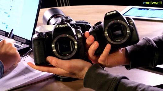 Die Redakteure Jan Kluczniok und Dennis Imhäuser zeigen euch Canons neuste Einsteiger-DSLR EOS 1200D und das Mittelklassemodell EOS 70D. Wo liegen die Unterschiede zwischen den DSLRs und worauf sollten Einsteiger achten?