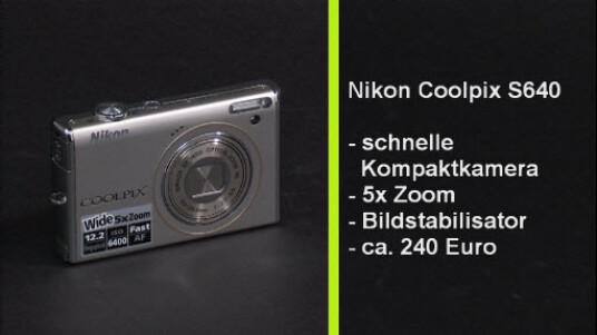 Bei der Nikon Coolpix S640 handelt es sich um eine sehr schnelle und einfach zu bedienende Digitalkamera, die sich sehr gut für spontane Schnappschüsse eignet. Damit hebt sich die Kamera von den meisten Konkurrenzmodellen ab, deren Auslösegeschwindigkeit vielfach zu wünschen lässt.