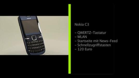 Das Nokia C3, ist ein Einsteiger-Smartphone für jüngere Nutzer. Es soll in den nächsten Wochen in Deutschland erhältlich sein und bietet neben einer vierzeiligen QWERTZ-Tastatur auch die Möglichkeit sich via WLAN ins Internet einzuwählen.