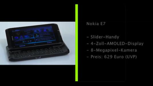 OLED-Display, großzügige Tastatur, 8-Megapixel-Kamera: Das Warten auf das Multimedia-Slider-Handy Nokia E7 hat sich geloht. Im Test zeigt das Smartphone, das als eines der letzen Nokia-Modelle überhaupt mit Symbian ausgeliefert wird, kaum Schwächen.