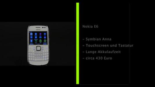Mit dem Nokia E6 erweitert Nokia seine E-Serie um ein Modell auf Basis des neuen Betriebssystems Symbian Anna. Das Modell punktete im netzwelt-Test vor allem mit seiner langen Akku-Laufzeit.