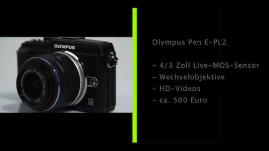 Olympus stattet seine Systemkamera Pen E-PL2 mit einem Live-MOS-Sensor aus. Dem Fotografen stehen mehrere Wechselobjektive zur Auswahl.