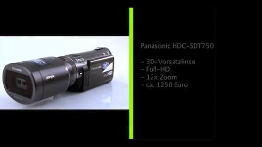 Ab sofort können Besitzer eines 3D-Fernsehers ihre eigenen dreidimensionalen Filme drehen. Panasonic bietet mit dem HDC-SDT750 den ersten Camcorder an, der mit Hilfe einer Vorsatzlinse 3D-Videos aufnimmt.