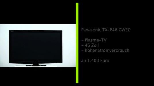 Der 46 Zoll große Plasma-Fernseher TX-P46 GW20 von Panasonic ist vollgestopft mit technischen Raffinessen. So finden sich unter anderem ein SD-Kartenslot, zwei USB-Buchsen, eine WLAN-Vorbereitung und ein Multituner auf der Ausstattungsliste. Auch bei der Bedienung sammelt der Plasma-TV ordentlich Punkte. Abstriche müssen Käufer bei manchen Bildeinstellungen sowie beim Ton der eingebauten Lautsprecher hinnehmen.