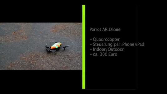 Seit ihrer Vorstellung auf der Consumer Electronic Show Anfang des Jahres, ist die Parrot-Drone der wohl heißeste Anwärter auf die Gadget-Krone 2010. Trotz nicht optimaler Witterung, war netzwelt mit dem kleinen High-Tech Flieger unterwegs.