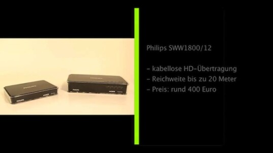 Das HD-Transmitter-Set Philips SWW1800/12 überträgt Multimedia-Inhalte in Bild und Ton kabellos von Konsolen, Bluray-Playern oder Notebooks auf Flachbildfernseher oder Monitore. Das nervige Verlegen von Kabel an den Wänden wird hinfällig.