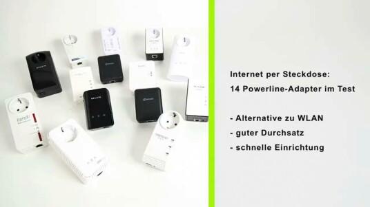 Auch Powerline-Geräte eignen sich zur Installation eines Netzwerkes. Die Adapter nutzen die Stromleitung zum Datenversand und -empfang. Der Durchsatz war bei allen Powerline-Geräten im Test gut. Die Geräte taugen damit auch zur Ausreizung schneller Internetanschlüsse.