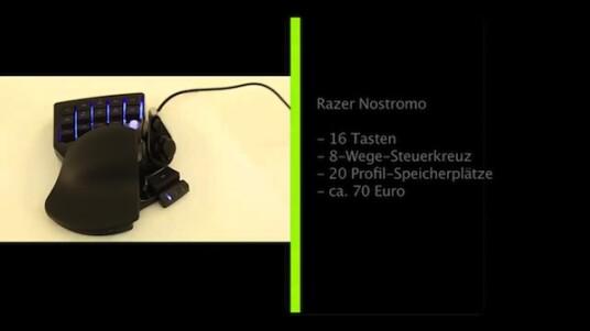 Das Nostromo von Razer soll die Bedienbarkeit von Spielen jeglicher Gattung erheblich vereinfachen, indem der Spieler alle wichtigen Funktionen in einer Hand halten kann.