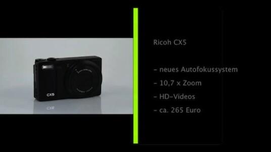 Verbesserung im Detail: Die Ricoh CX5 verfügt wir ihre Vorgängermodell über einen 10,7-fachen Zoom und eine Auflösung von zehn Megapixeln. Der Hersteller hat vor allem die Rauschreduzierung verbessert und den Autofokus beschleunigt.