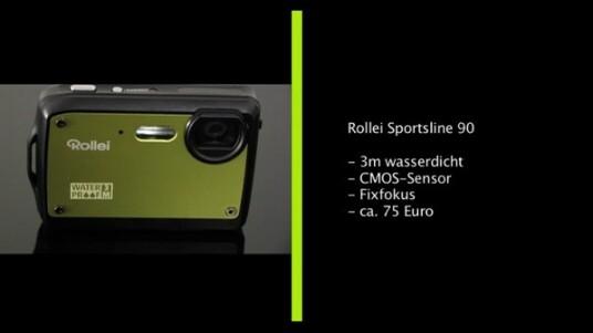 Das eine wasserdichte Kamera nicht teuer sein muss, beweist Rollei mit der Sportsline 90. Die maximale Tauchtiefe liegt bei drei Metern und der CMOS-Bildsensor liefert Fotos mit neun Megapixeln. Damit der Preis unter 100 Euro bleibt verzichtet der Hersteller allerdings auch zahlreiche bewährte Ausstattungsmerkmale.