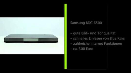 Der vielseitige Blue-ray-Player BD-C 6500 von Samsung glänzt mit einer guten Bild- und Tonqualität und ist aufgrund seines fairen Preises ein idealer Einsteiger-Player.