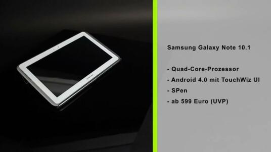 Samsung startet mit dem Galaxy Note 10.1 eine neue Tablet-Serie. Von der Galaxy Tab-Reihe setzt sie sich durch bessere Hardware und eine Schreibfunktion ab.
