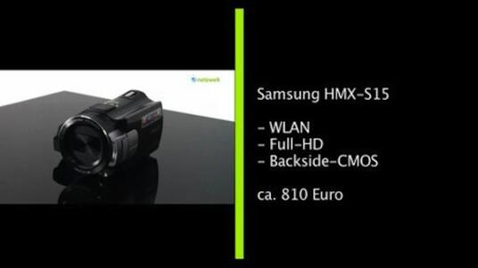 Der Full-HD-Camcorder HMX-S15 überträgt Filme per WLAN. Die Bedienung erfolgt über einen Touchscreen und ein umgedrehter Bildsensor lässt auf eine gute Bildqualität hoffen.