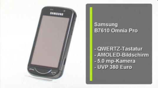 Das Samsung B7610 Omnia Pro überzeugt durch Details wie den 3,5 Zoll großen AMOLED-Touchscreen oder durch die sehr praktische Tastatur.