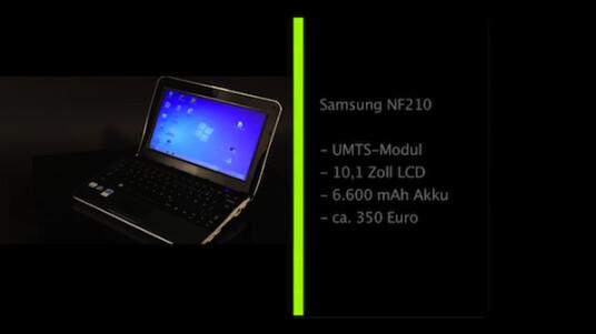 Netbooks sind für die mobile Nutzung konzipiert und trotzdem verfügen nur wenige über ein integriertes UMTS-Modul. Das Samsung NF210 gehört zu den Ausnahmen und kann nach dem Einleger der SIM-Karte ohne störenden USB-Stick online gehen.