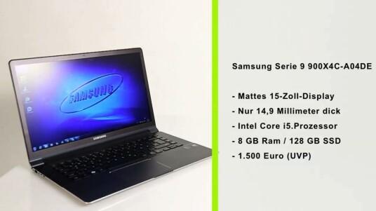 Samsung Serie 9 900X4C-A04DE ist eigentlich gar kein Ultrabook. Zumindest verzichtet Samsung auf das werbewirksame Label, auch wenn das Testgerät prinzipiell alle Anforderung dafür erfüllt - und obendrein auch noch besonders flach, besonders hochwertig und besonders leicht ist.