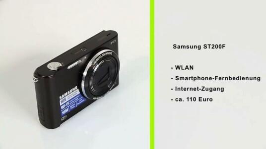 Per WLAN sendet die Samsung ST200F Bilder ins Internet und lässt sich über Smartphones fernsteuern.