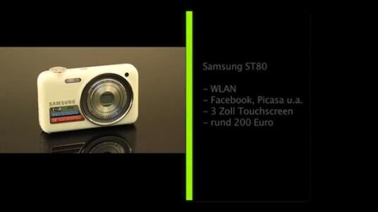 Samsung stattet die ST80 mit einem WLAN-Modul aus. So versendet die Kamera Fotos direkt per E-Mail oder stellt sie in Online-Portale ein.