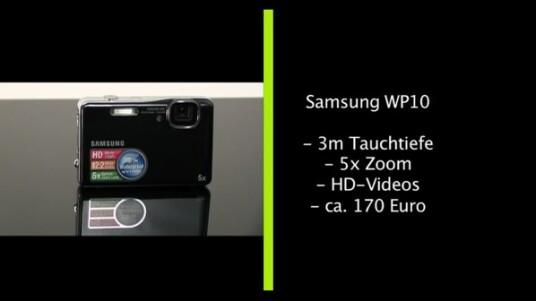 Samsung bietet mit der WP10 erstmal seine wasserdichte Outdoorkamera an. Die maximale Tauchtiefe liegt nach Angaben des Herstellers bei drei Metern.