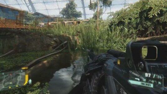 Achtung, dieser Crysis-3-Trailer enthält Spoiler. Zu sehen sind Spielszenen aus dem kommenden Shooter von Crytek. Zunächst wird das mit Gras überwucherte Gebiet gezeigt, das bereits aus dem Jagd-Trailer bekannt ist. Später kommt noch eine Rail-Shooter-Sequenz in einer Lore. Zu sehen sind außerdem verschiedene Waffen, die Spielern in Crysis 3 zur Verfügung stehen. Vom Hightech-Kampfbogen, bis zum Granatwerfer.