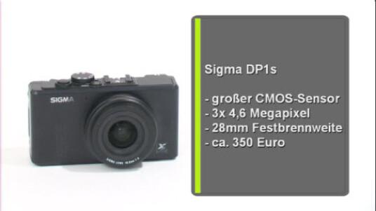 Nicht nur durch die festeingebaute Brennweite des Weitwinkel-Objektivs von 16,6 Millimetern hebt sich die Sigma DP1s von anderen Kompaktkameras ab. Der neueste Fotoapparat des japanischen Unternehmens arbeitet mit einem Bildsensor, der ähnlich groß ausfällt wie die Chips aktueller Spiegelreflexkameras.
