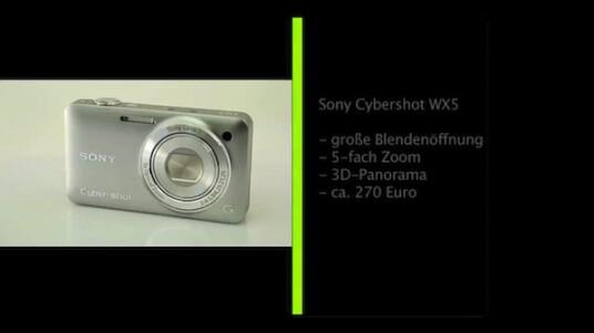 Die von Sony geweckten hohen Erwartungen an eine Kamera für schlechte Lichtverhältnisse, hält die Cybershot WX5 nicht ein. Trotzdem ist die Kamera mit ihrem CMOS-Sensor, einem optischen Bildstabilisator, 3D-Funktionen und Full-HD-Videoaufzeichnung einen Blick wert.