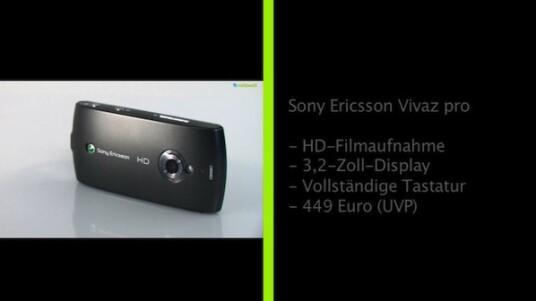 Das Sony Ericsson Vivaz ist zwar kein Ersatz für einen vollwertigen Camcorder. Immerhin zeichnet es aber Videos im 720p-Format auf. Die Ergebnisse können sich auch im Foto-Modus sehen lassen. Für Vielschreiber gibt es das Vivaz pro, das eine ausziehbare QWERTZ-Tastatur bietet.