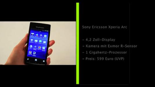 Mit dem Xperia Arc stellt sich das Flaggschiff-Modell der nächsten Android-Smartphone-Generation von Sony Ericsson in der netzwelt-Redaktion vor. Im Test konnte das Handy vor allem mit seinen Multimedia-Fähigkeiten punkten.