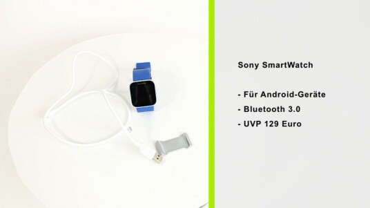 Die SmartWatch von Sony für Android-Geräte informiert Nutzer nicht nur über die Zeit, sondern auch über eingegangene SMS, Anrufe sowie Neuigkeiten aus ihrem Twitter- und Facebook-Account.